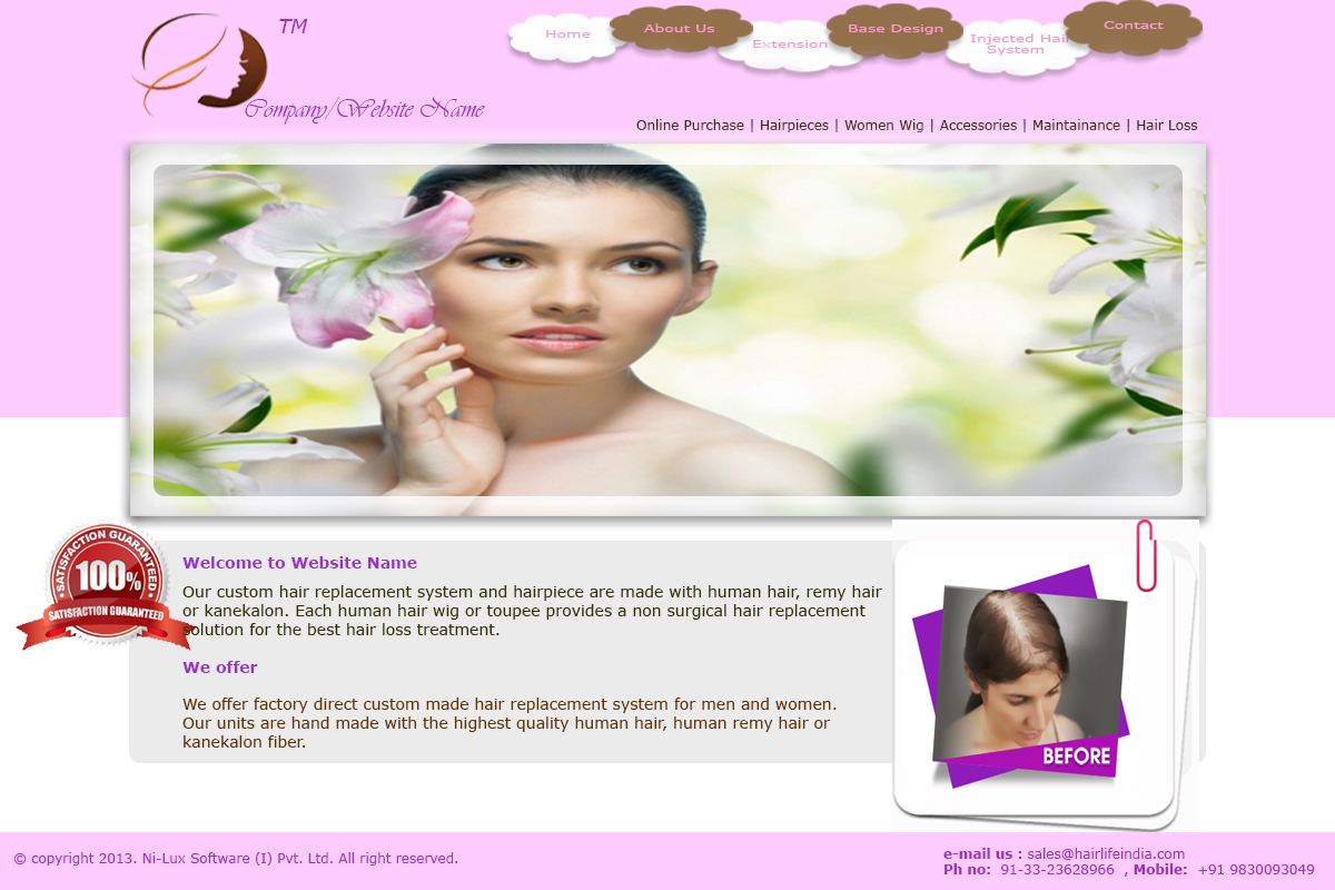 Recent work ni lux software ltd for Cosmetology portfolio template